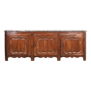 French 19th Century Provincial Walnut Enfilade For Sale