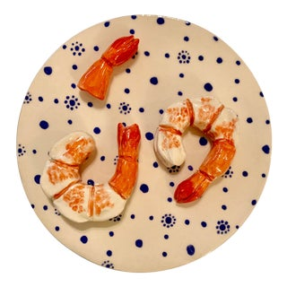 Shrimp on a Plate by Leslie Rylee For Sale