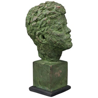 1960s Robert Berks Unique Sculpture of John F Kennedy Jfk Bust Miami Beach Award For Sale