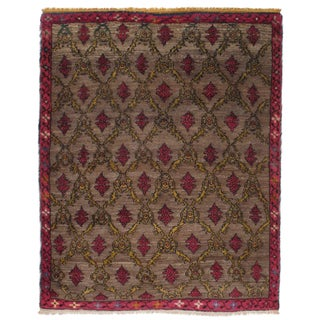 Karapinar Rug with Lattice Design For Sale