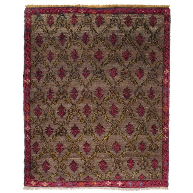 Karapinar Rug with Lattice Design For Sale