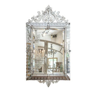 Large Rectangular Venetian Mirror For Sale