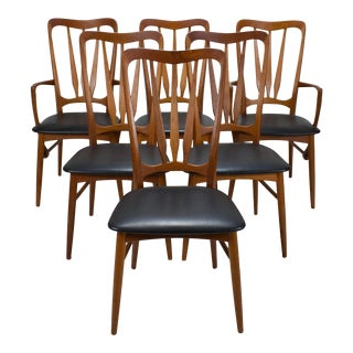 """1960s """"Ingrid"""" Dining Chairs by Niels Koefoed for Koefoeds Hornslet - Set of 6 For Sale"""