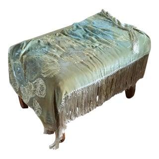 Silk Velvet Aqua Ombré Throw Blanket For Sale
