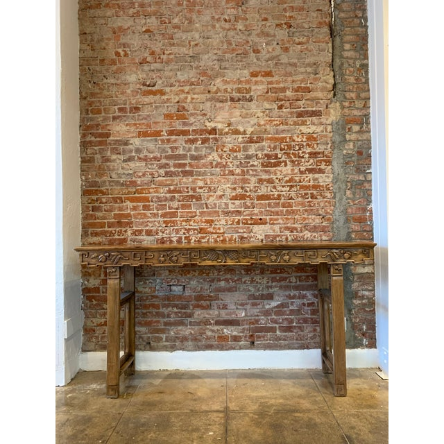 Antique Hand Carved Wood Altar Table/Console For Sale - Image 12 of 12