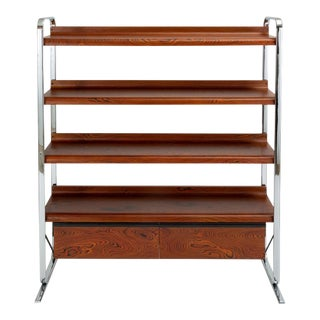 Zebrawood and Chrome Bookshelf by Peter Protzmann for Herman Miller For Sale