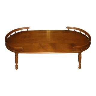 Heywood Wakefield Mid Century Coffee Table With Gallery Rails For Sale