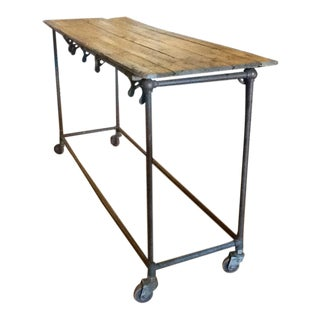 Antique Industrial Rustic Kitchen Island