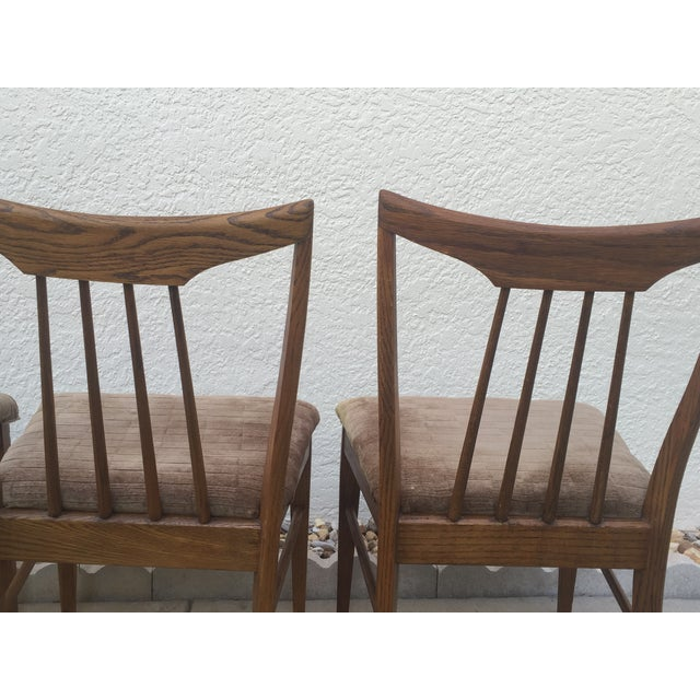 Mid Century Oak Dining Chairs - Set of 4 - Image 5 of 11