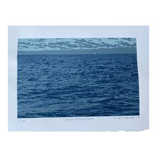 """Lake Michigan"" Contemporary Serigraph by Hiroshi Ariyama For Sale"