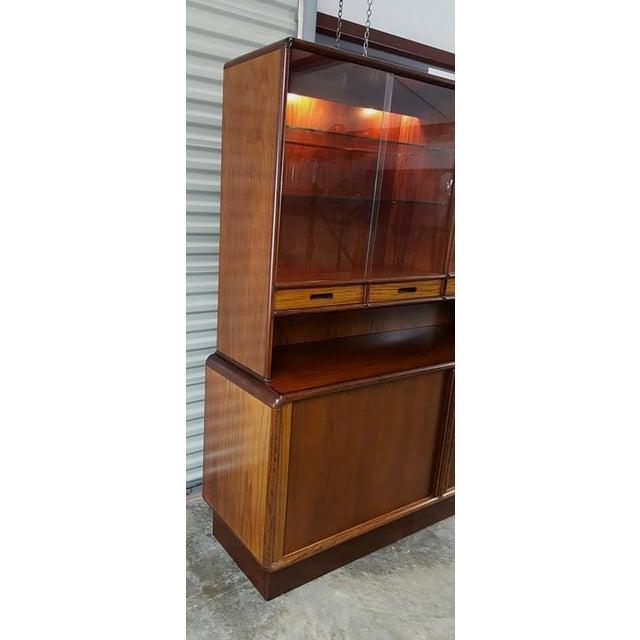 Kibaek Mobelfabrik Rosewood Tambour Door Hutch For Sale - Image 7 of 8