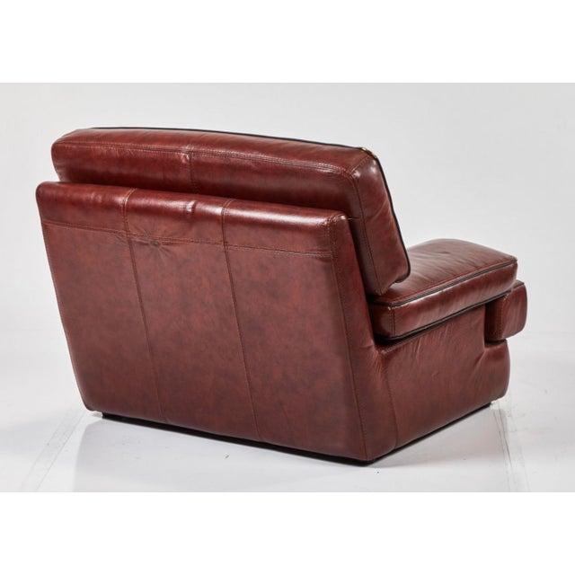 Italian Saporiti Italia Leather Chair For Sale - Image 3 of 4