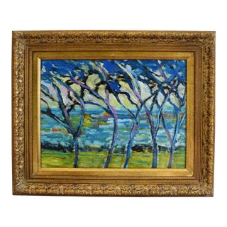 Juan Guzman, Vibrant Camarillo Landscape Abstract Oil Painting