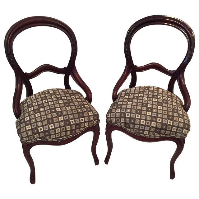 Victorian Side Chairs - A Pair - Image 1 of 3