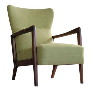 Midcentury Soren Hansen Low-Back Open Armchair for Fritz Hansen For Sale