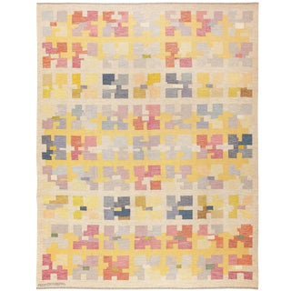 Vintage Scandinavian Rug by Agda Osterberg - 7′9″ × 10′2″ For Sale