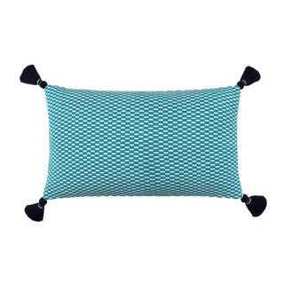 Ella Handwoven Rectangle Tassel Pillow For Sale
