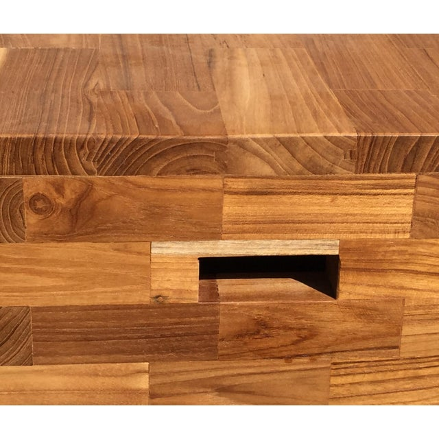 Adirondack Southwestern Teak End Table or Stool For Sale - Image 3 of 5