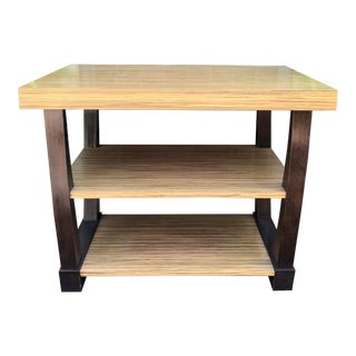 Dessin Fournir Zebra Wood & Ebony Designer Side Table For Sale
