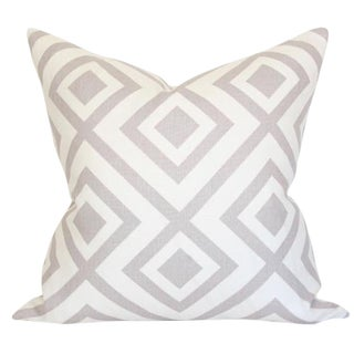 Contemporary La Fiorentina Light Grey & Ivory Pillow Cover 24x24 For Sale
