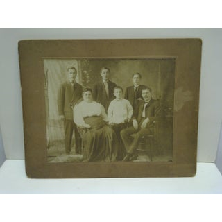 """Vintage 1920s """"Family Portrait"""" Mounted Black & White Photograph Preview"""