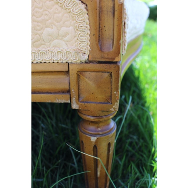 Vintage French Wood Frame Chair - Image 5 of 6