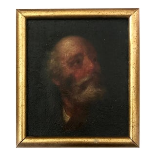 17th Century Old Master Miniature Painting Portrait of a Man For Sale