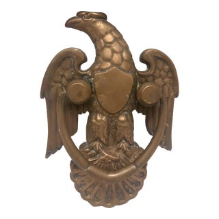 Vintage Brass Federal Eagle Doorknocker For Sale