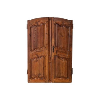 18th Century Pair of French Louis XV Style Walnut Armoire Doors For Sale