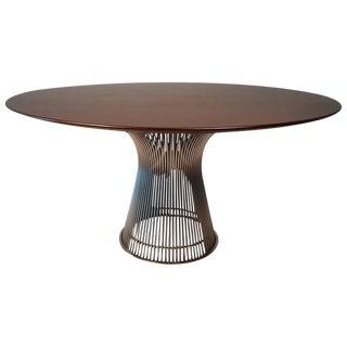 Warren Platner Dining Table in Dark Walnut For Sale