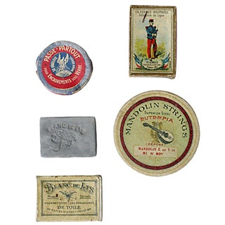 Antique French Box Collection, Set of 5 For Sale