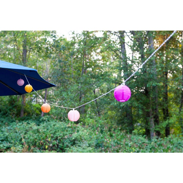 Glow Outdoor Solar String Lights in Peach Bellini For Sale - Image 4 of 9