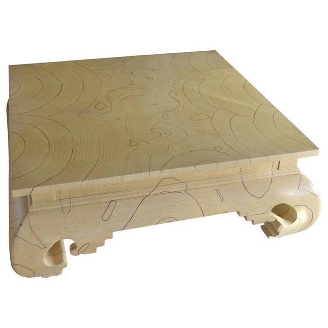 Faux Wood Grain Painted Coffee Table For Sale - Image 13 of 13