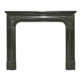 Small Antique French Louis XIV Fireplace in Black Marble