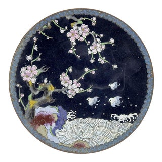 Japanese Cloisonne Plate For Sale
