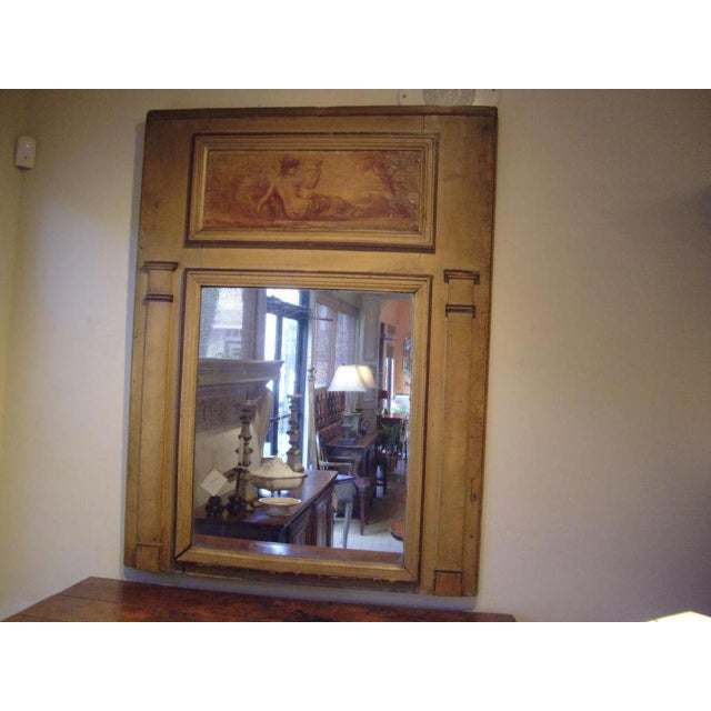 French Early 19th Century Directoire' Trumeau Mirror For Sale - Image 3 of 5