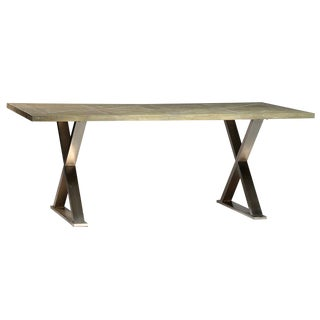 Contemporary Howard X-Base Dining Table For Sale