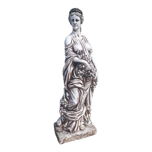 Vintage Grecian Goddess Statue For Sale