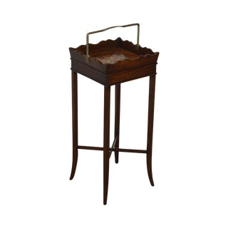 "Theodore Alexander George III Style Mahogany Square Side Table ""The Georgian Butler"" For Sale"