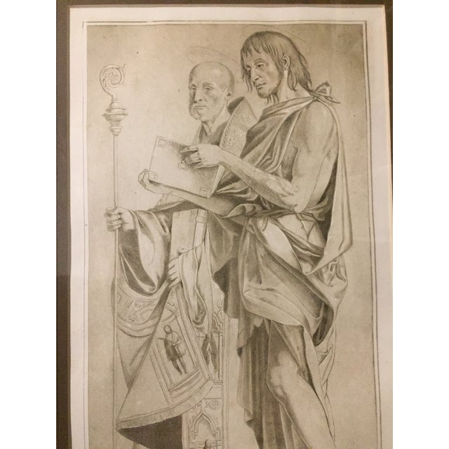 This is a rare and intriguing interpretation by an anonymous British printmaker of the drawing of St. John the Baptist and...