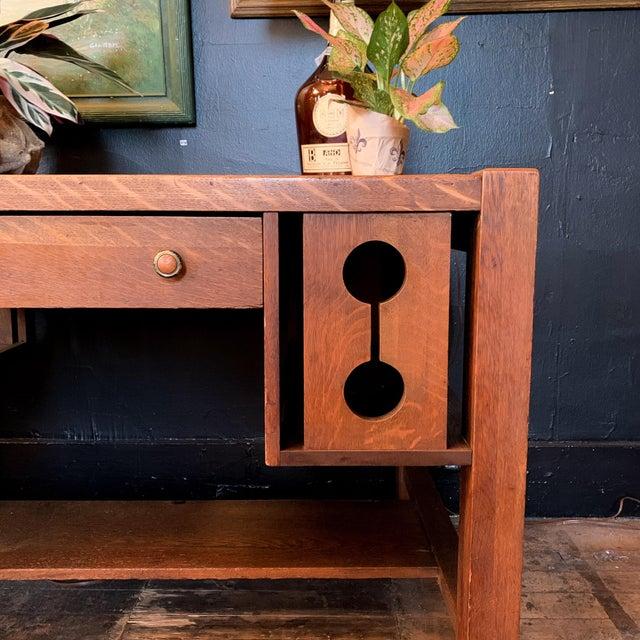 Wood 1930s Wood Craftsman Desk For Sale - Image 7 of 9