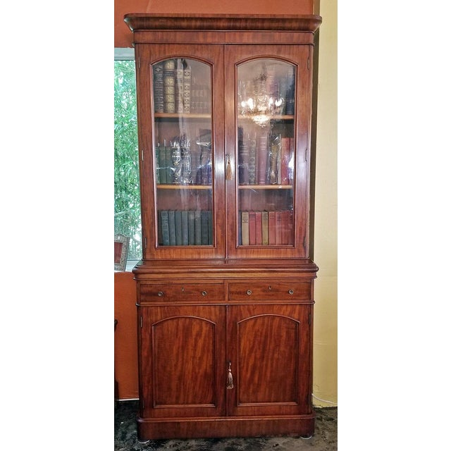 19th Century British William IV Mahogany Bookcase of Neat Proportions For Sale - Image 10 of 10