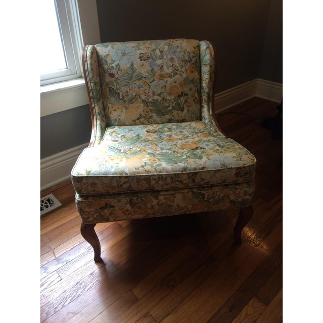 Vintage Winged Slipper Chair - Image 2 of 5