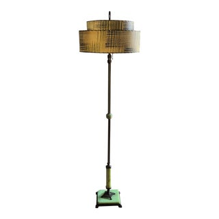 Onyx Antique Floor Lamp With Original Shade