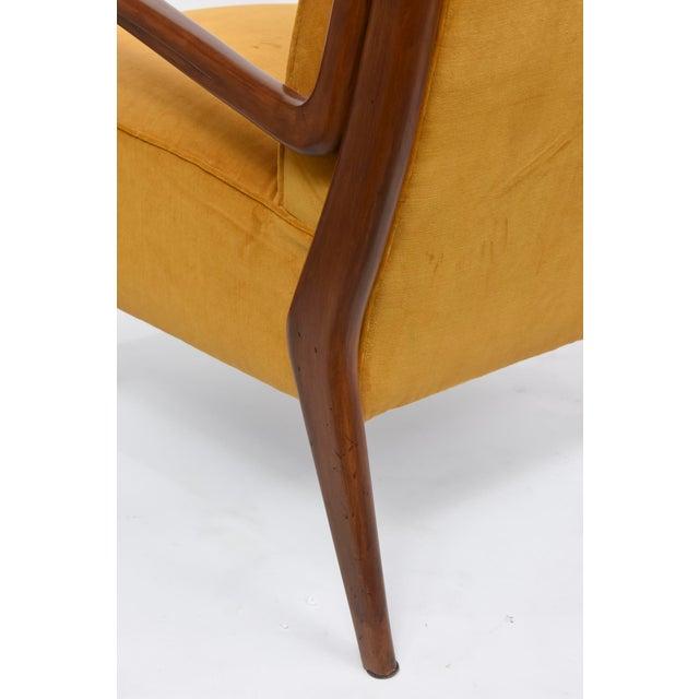 Rare Pair of Italian Modern Walnut Armchairs, Orlando Orlandi For Sale In Miami - Image 6 of 11