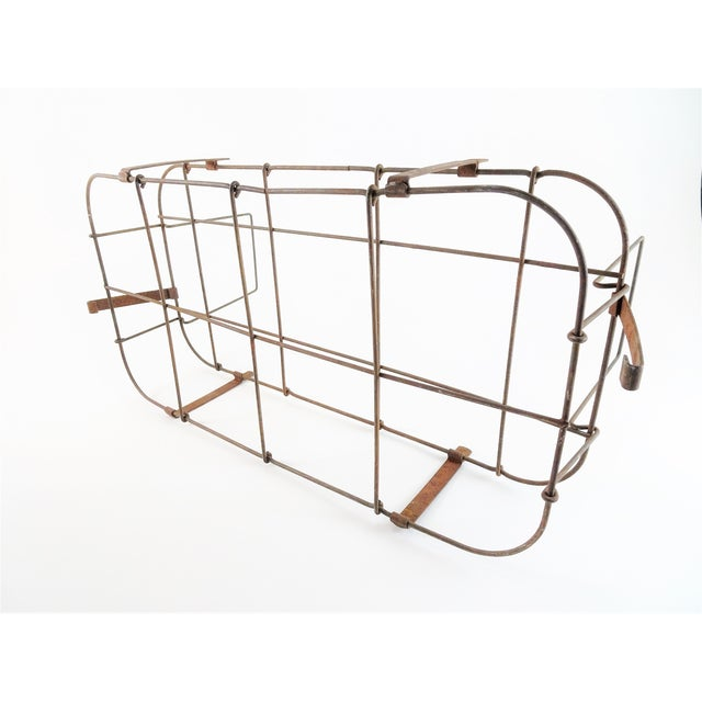 1930s Rustic Wire Basket With Handle For Sale In Seattle - Image 6 of 11