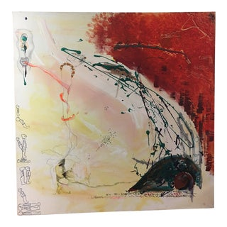 Contemporary Abstract Acrylic on Canvas Painting For Sale