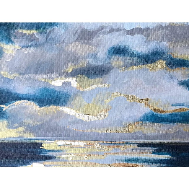Canvas 'At Sea' Original Abstract Landscape Painting by Linnea Heide For Sale - Image 7 of 8