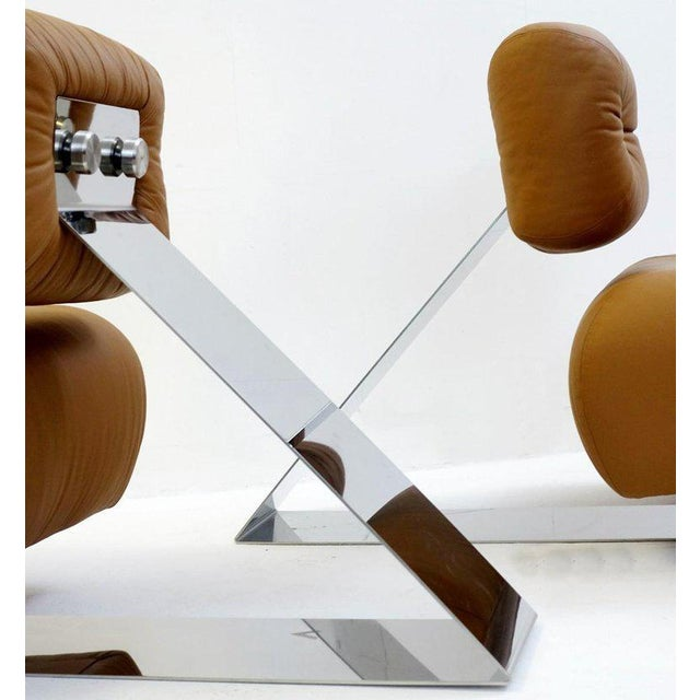 "Oscar Niemeyer Pair of ""Aran"" Lounge Chairs by Oscar Niemeyer, Circa 1975 For Sale - Image 4 of 9"
