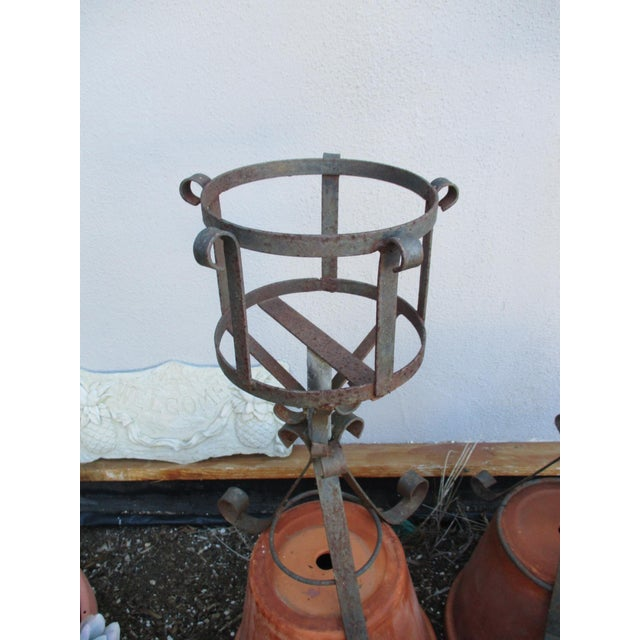 French Mediterranean Iron Planters - A Pair - Image 8 of 9